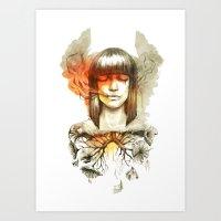 Evil's Smoke Art Print
