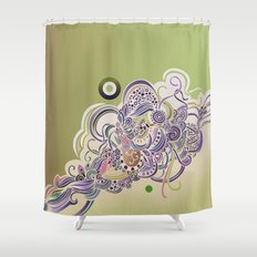 Detailed diagonal tangle Shower Curtain