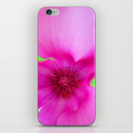 Shocking Pink Flower iPhone & iPod Skin