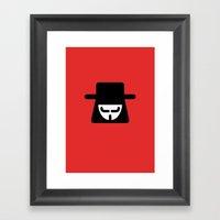 V Vendetta Framed Art Print