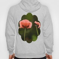 Couple Pink Oriental Poppies Hoody