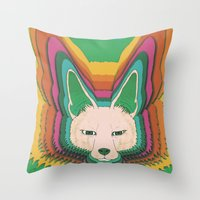 Fannec Fox Throw Pillow