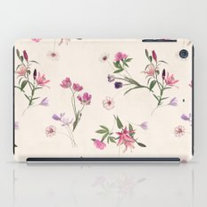 Scattered Floral On Crea… iPad Case