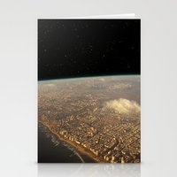 Earth Space Stationery Cards