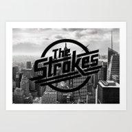 Art Print featuring The Strokes Logo New Yor… by Fligo