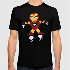 Iron Pixel Black Mens Fitted Tee SMALL