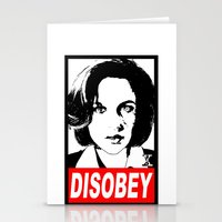 Disobey Scully Stationery Cards
