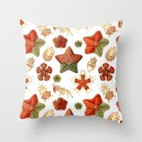 Sea Stars And Star Fish Throw Pillow
