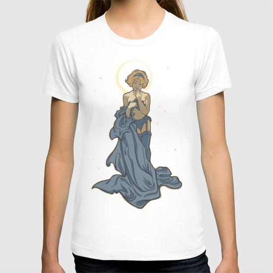 Mucha Pin Up Girl T-shirt