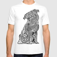 Polynesian Pug  Mens Fitted Tee White SMALL