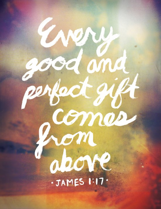James 1:17 Canvas Print