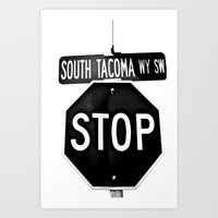 South Tacoma Stop Art Print