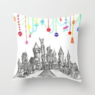 Party At Hogwarts Castle… Throw Pillow