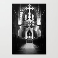 Cathedral in England Canvas Print