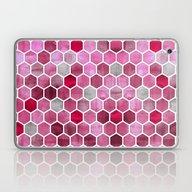 Pink Ink - Watercolor He… Laptop & iPad Skin