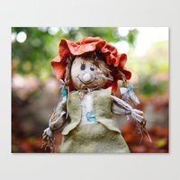 Autumn Scarecrow Canvas Print