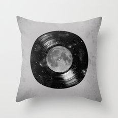 Galaxy Tunes Throw Pillow