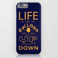 iPhone & iPod Case featuring Life is like to balloon by Daniella Gallistl