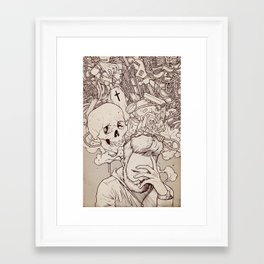 Framed Art Print - Self Destructive Personality - hatrobot