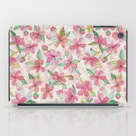 Pink Painted Blossom Pat… iPad Case