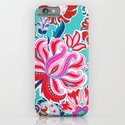 Bohemian Floral Paisley in Turquoise, Red and Pink iPhone & iPod Case