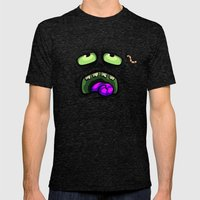 ZOMBIE HORROR Mens Fitted Tee Tri-Black SMALL