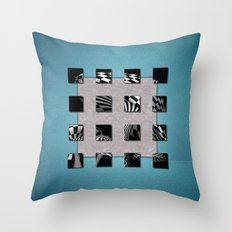 SQUARE AMBIENCE - Basketball mixed-media collage Throw Pillow