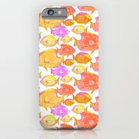 iPhone Cases featuring FISHY FISH by Lauren Taylor Creations