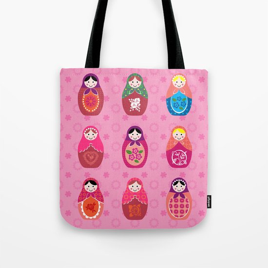 Matryoshka dolls pink Tote Bag