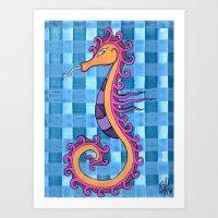 hippocampe 2x Art Print