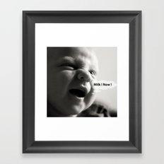 {milk monster} Framed Art Print