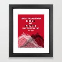 Oscar Levant Quote Framed Art Print