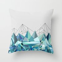 Colorflash 3 Turquoise Throw Pillow