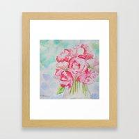 Fluers Fraiches Flower  Framed Art Print