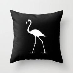 Flamingo (white) Throw Pillow