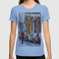 Havana Rain Womens Fitted Tee Athletic Blue SMALL