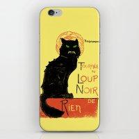 Loup Noir iPhone & iPod Skin