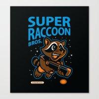 Super Raccoon Canvas Print