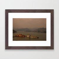 foggy peacefulness  Framed Art Print