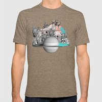 Endless Summer Mens Fitted Tee Tri-Coffee SMALL