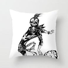 Fart Skull Flying Throw Pillow
