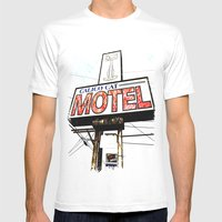 Kitty Motel Mens Fitted Tee White SMALL