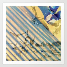 a wave of experience  Art Print