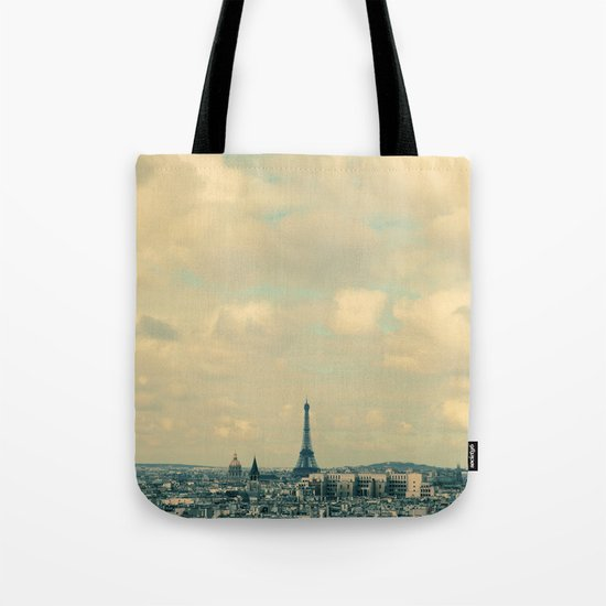 Paris In Blue Tote Bag