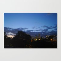 THE NIGHT IS COMING. Canvas Print