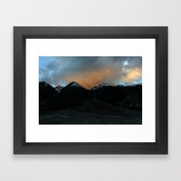 Changthang Sunset Framed Art Print