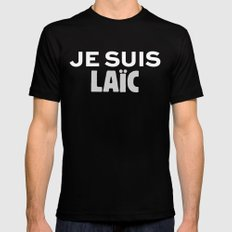 Je Suis Laïc Mens Fitted Tee SMALL Black
