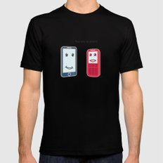 Smartphone Mens Fitted Tee Black SMALL