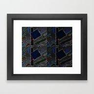 Black Suprematist Compos… Framed Art Print