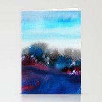 Watercolor abstract landscape 25 Stationery Cards